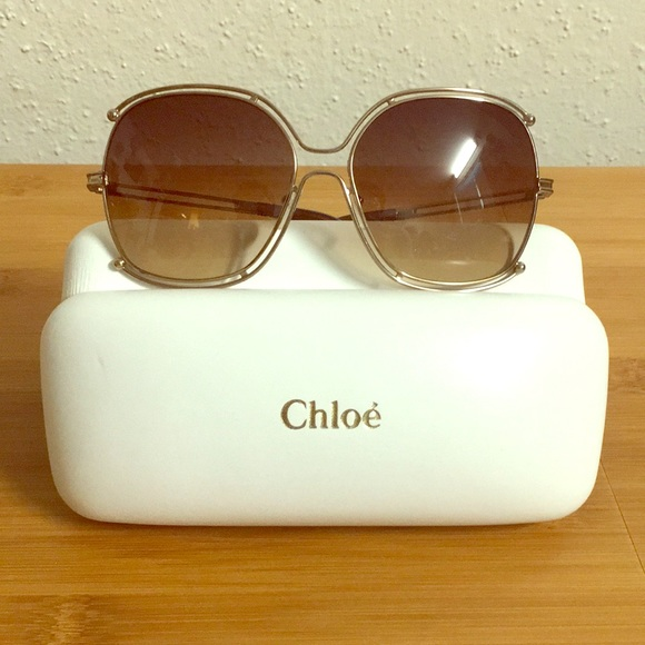 63793b99ffcd Chloe Accessories - Chloe Sunglasses in Brown Lens and Gold frame